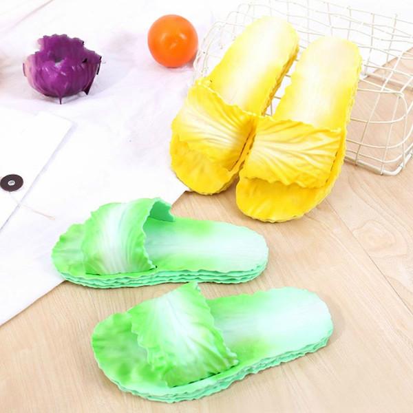2019 großhandel Neue Design Gemüse Muster Flache Strand Schuhe Weibliche Plattform Gladiator Sandalen Sommer Flip Flops Frau Schuhe Creepers