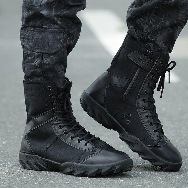 Легкие сапоги, открытый туризм, альпинизм, военные ботинки, зимние мужские сапоги.