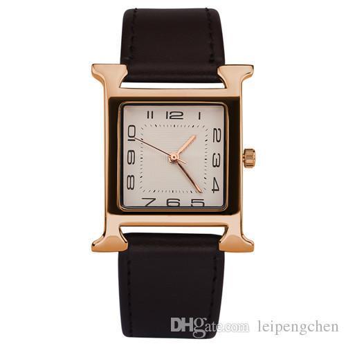 Luxury name Brand Herm watches Men military watch Fashion woman wristwatches Quartz men sports watches Casual leather Men Watch Relogio