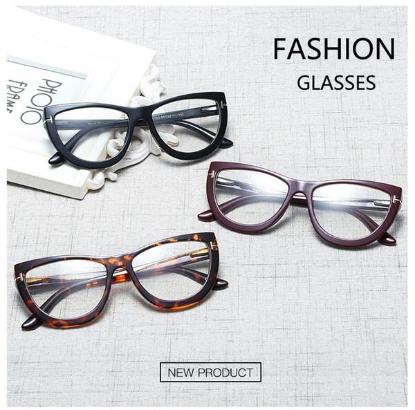 Classic Retro T-glass Frame Men Women Sunglasses Half Frame Metal Myopia Glasses Frame Trend Flat Eyeglasses