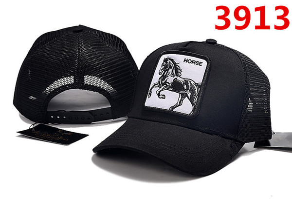 New Luxury caps designer hats brand Horse black Snapback Cap Men Women summer Snapbacks Hats Baseball Sports Caps fan Gorras free shipping