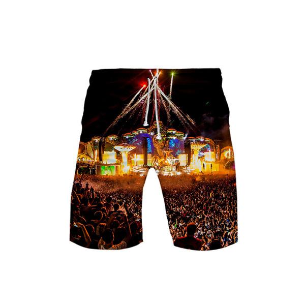 Tomorrowland 3D print Beach Shorts Fashion shorts Basic cool kpop Street Summer Casual Moletom man pant Hipster