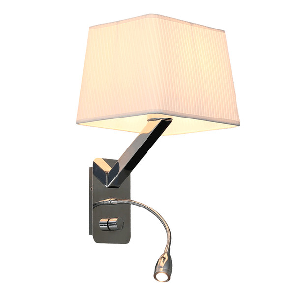 Indoor flexible mechanical arm wall lamp bedside reading light industrial wall sconce wireless wall lamps led reading light