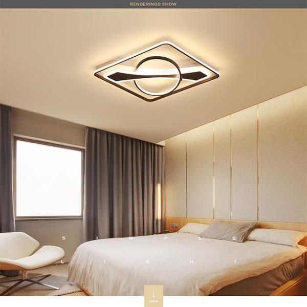 Großhandel Led Deckenleuchte Einfache Moderne Deckenleuchte Kreative Nordic  Wohnzimmer Lampe Schlafzimmer Lampe Restaurant Rc Dimmbare Led ...