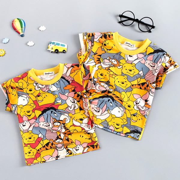 Hot Boys Vêtements pour bébé Sets Marque Cartoon Ours Enfants d'été Garçons Vêtements fille enfants Set T-shit coton + Pantalon court