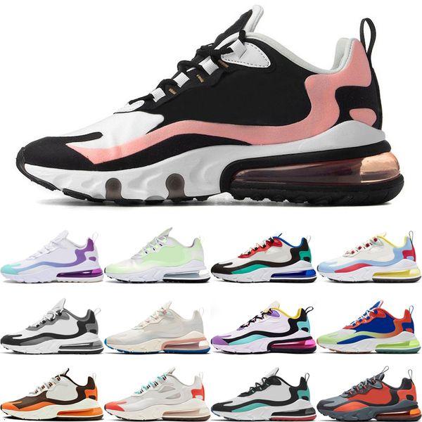 Yeni Geliş Yastık erkekler kadınlar ağartılmış mercan Dusk Mor Bauhaus In My nefes spor spor ayakkabı eğitmenler 36-45 hisseder koşu ayakkabıları React