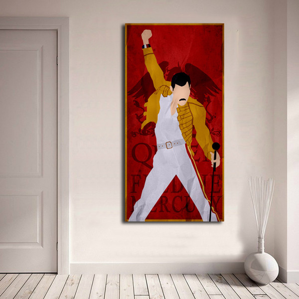 queen band rock posters freddie mercury hd canvas prints wall art painting pictures for living room