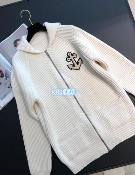Kadın kızlar Örgü hırka Kapüşonlu Geometrik desenler nakış ile boyun mektubu nakış Ceket Kadın Kadın Kazak Uzun Kollu ceket