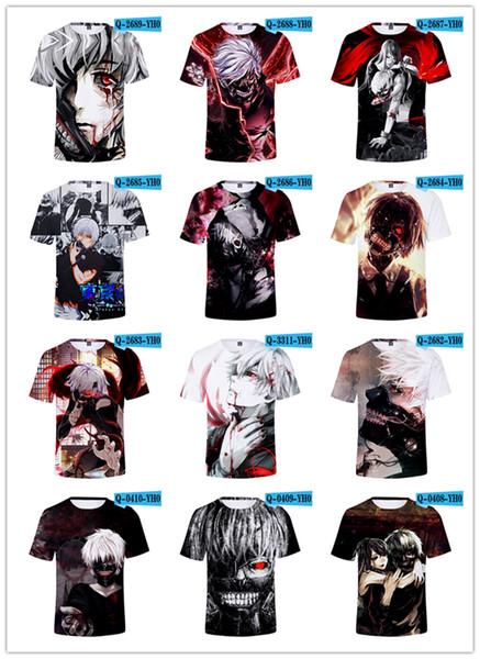 Japan Anime Tokyo Ghoul 3D Print T shirt Men/Women/kids/youth Harajuku Punk T-Shirt 2019 Summer Streetwear Tshirt Tee Boys Wine Clothes