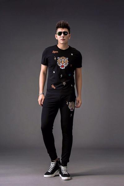FA02128 Moda Erkek Takımları 2019 Pist Lüks Avrupa Tasarım parti tarzı Erkek Giyim
