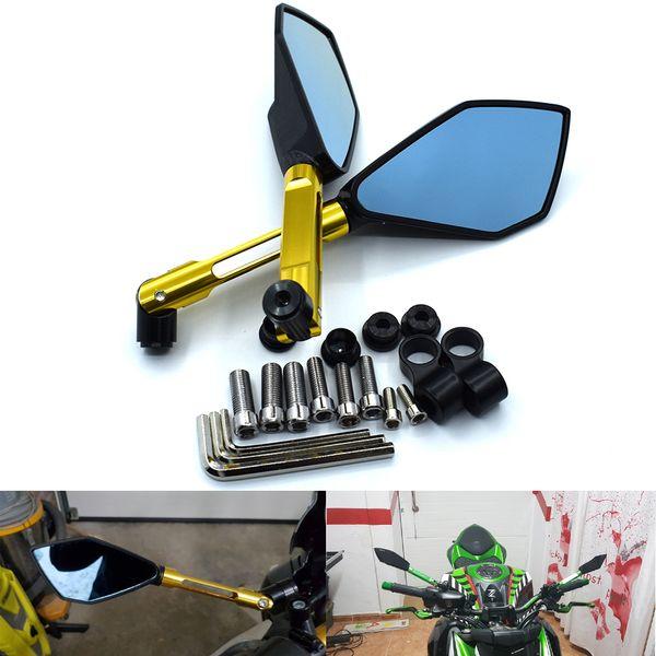 Для Алюминий Зеркала Аксессуары мотоцикла зеркало заднего вида для HONDA CB1000R Suzuki Bandit Yamaha XJ6 Kawasaki Z800 КТМ Suzuki