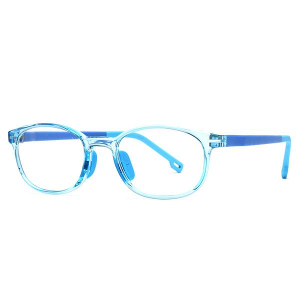 La última versión Marco de gafas de silicona para miopía Estudiantes de primaria Niños Marco de anteojos de miopía Anti-clip Tr90