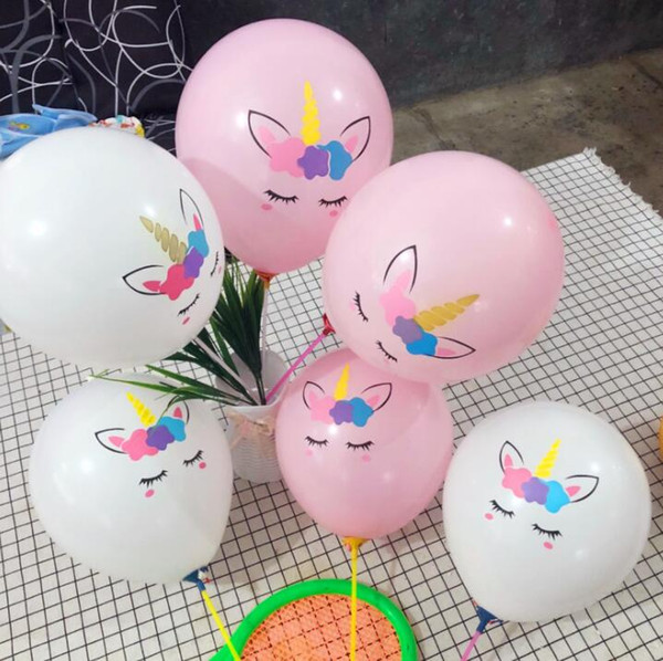 Unicorn Balloon inflatable Latex Balloons party Decoration novel Palloncini Wedding Xmas baby birthday Christmas gift 100pc/lot GGA1460