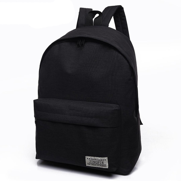 For College Student 2018 Daypack Men Mochila black Travel Rucksack Teenagers School Backpack Bags Casual Canvas Male