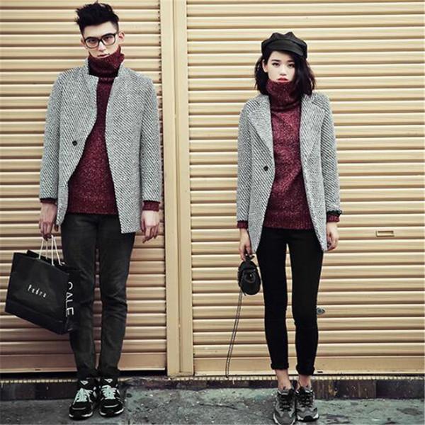 2018 mélange de laine pour hommes costume conception Outwear manteau conception occasionnelle de manteau d'hommes de tranchée mince