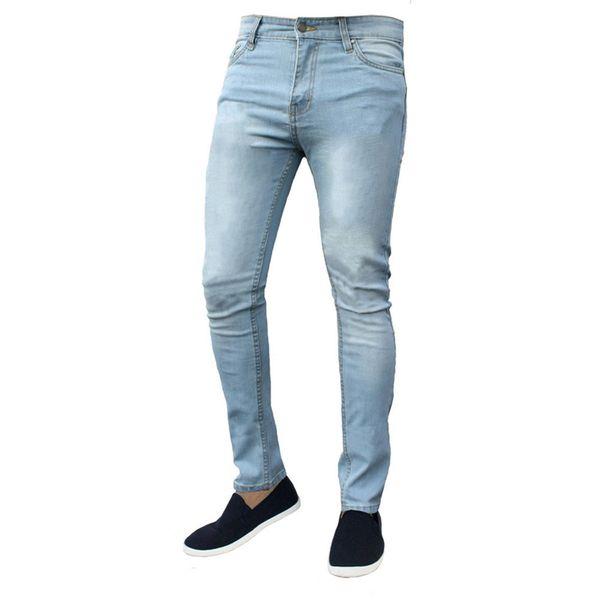 Men's Summer New Denim Pants High Elastic Thin Jeans Pants Blue Black Hip Hop Slim Fit Trousers Streetwear Male Jogger Pantalon