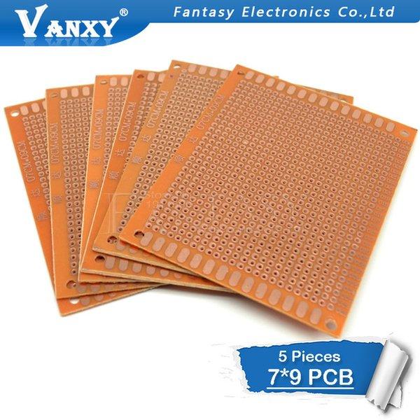 مكونات إلكترونية الإمدادات 5PCS 7X9CM 7 * 9 DIY النموذج الأولي PCB عالمي تجربة مصفوفة لوحة الدوائر
