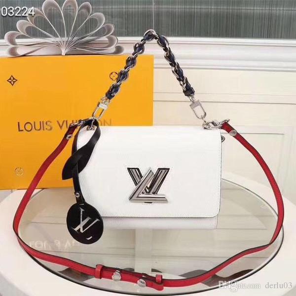 2018 bolso de la solapa de las mujeres del bolso de la cadena de la tela escocesa de las señoras de lujo de alta calidad bolso de diseñador de moda bolso de hombro bolsas de mensajero