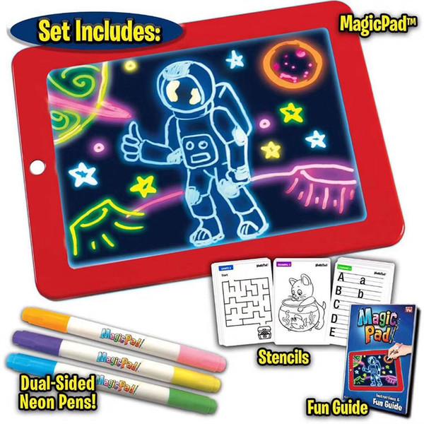 3d magic drawing pad children 039 puzzle board 3d art board magic pad create art light up drawing pad