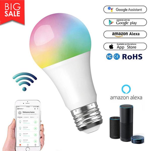 Wi-Fi inteligente Alexa Echo Control de voz Bombilla LED, para Google Assiant IFTTuya inteligente App Vida Inicio Bombilla Bombilla Timing