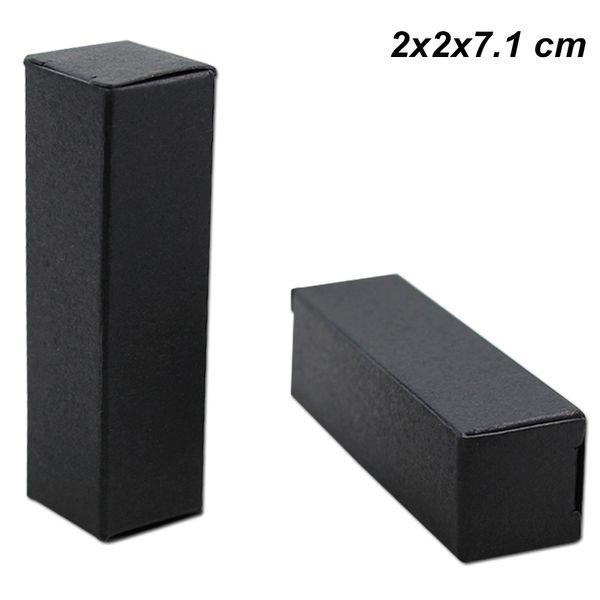 2x2x7.1 cm Black Kraft Paper Lip Stick Cosmetic Oil Bottle Storage Package Box DIY Handmade Paper Board Art Box for Lipstick Perfume Bottle