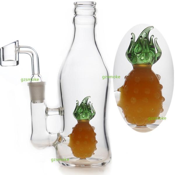 Ananas Perc Bong Bongs Tupfen Rig Glaspfeifen berauschende Wasserpfeifen Bongs Quarz Banger Wachs Ölplattformen Wasserpfeifen Niedliche Tierbienenwabe