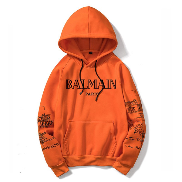 Sports Balmain Sweatshirt Hoodie Mens Womens Jacket Long Sleeve Logo Autumn balmain Windbreaker Designer Mens Clothes Large Size Hoodie