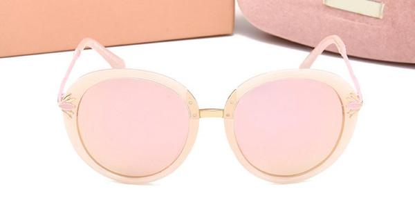 2019 designer neue sonnenbrille damenmode runde gesicht 5 farbe Sonnenbrille 100% UV Schutz Sonnenbrille Luxus Eyewear