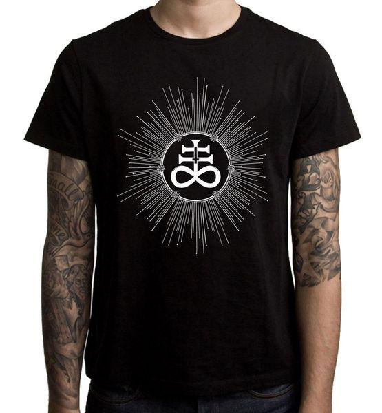 Сатанинский крест перевернутый Левиафан мужская футболка
