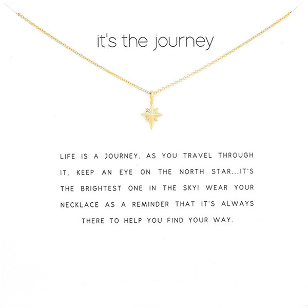 fashion gold color star pendant necklace women minimalist clavicle chain choker necklaces valentine's day gift card