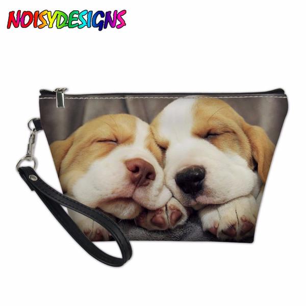 dcdfd096e3ef 2019 Women Cosmetic Bag For Cosmetics Beagle Dog Print Travel Organizer  Toiletries Female Makeup Bags Pencil Case Girl Handbag Purse From Yunduoa,  ...