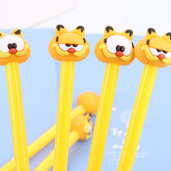 best selling Cute Garfield gel pen cartoon children Student Writing Pen Office Eexamination Limited Office Material School Supplies wholesale Free E-PACK