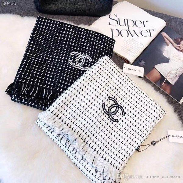Compre 2018 Bufanda De La Marca Luxury Luxury Cashmere De Lana De ...