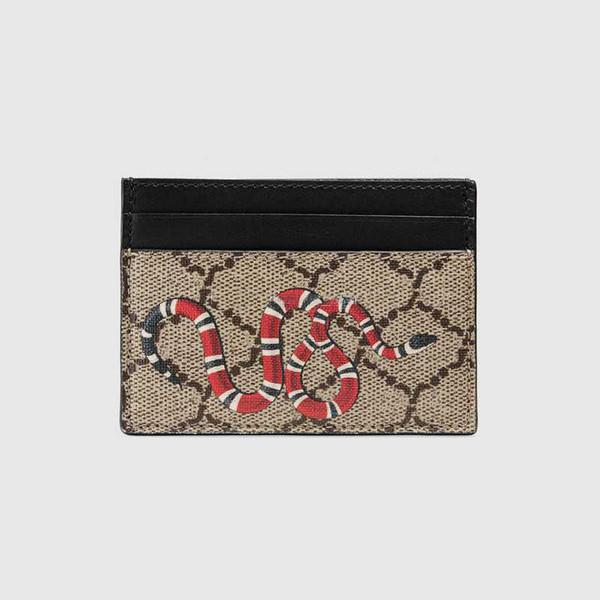 Top qualité Paris style designer de luxe classique célèbre hommes femmes célèbre cuir véritable gy titulaire de la carte de crédit mini portefeuille