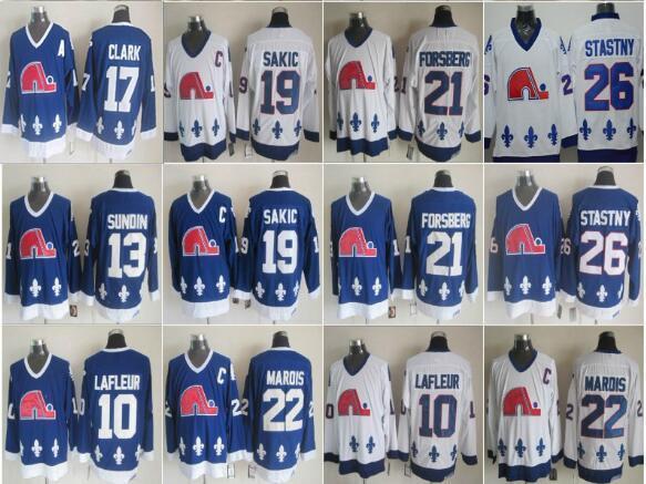 Quebec Nordiques Vintage Winter Classic 10 Guy Lafleur Mats Sundin 19 Joe Sakic 21 Peter Forsberg Peter Stastny 17 camisetas de hockey Clark CCM