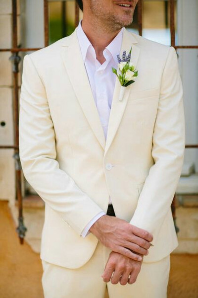 Linen Coat Pants Mens Wedding Suits Man Blazers Jacket Classic Casual Groom Tuxedos 2Piece Summe Beach Wedding Party Costume Homme Mariage