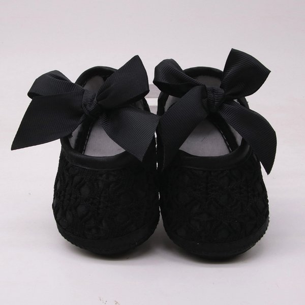 Newborn Toddler Girls Soft Shoes Soft Soled Non-slip Bowknot Footwear Crib Shoes