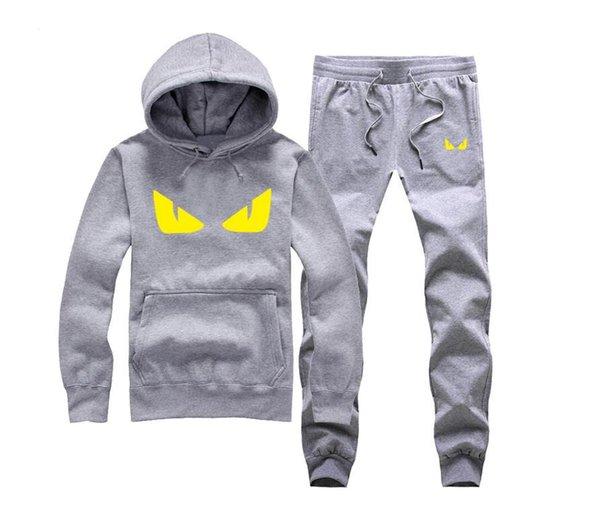 Novos conjuntos de homens da moda moda esportiva terno camisola + sweatpants mens clothing 2 peças define slim treino t10