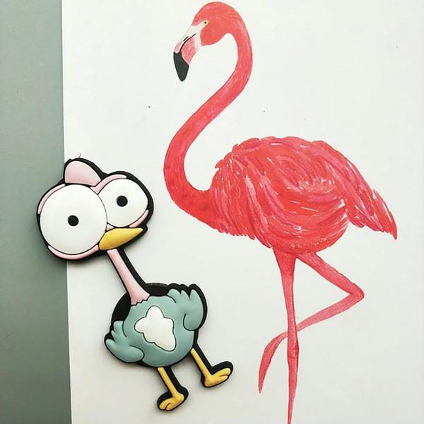10 pz / lotto magneti del frigorifero del PVC del fumetto magneti del frigorifero animale kawaii per i bambini e la decorazione domestica
