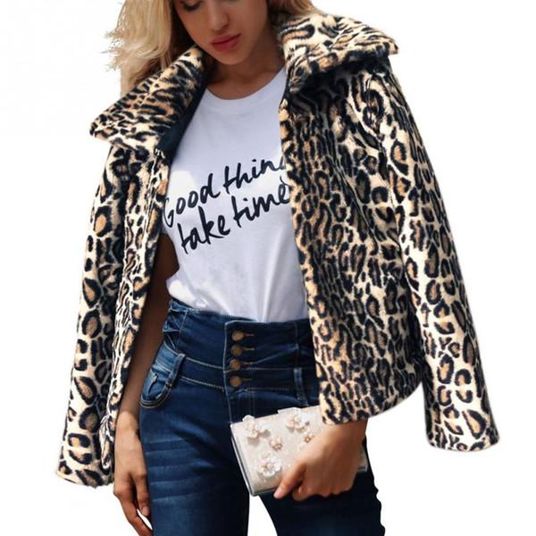 Mantel Warm De comDhgate Trendy Von Flowter33 Auf Großhandel 75 Damen Fuzzy Print Umlegekragen dhgate Langarm Leopard Outwear I6yb7fvYg