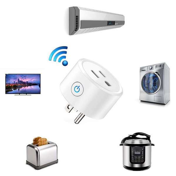 Mini Smart Home WIFI Power Plug Compatible with Alexa Sonoff Wifi Socket Outlet Automation Phone App Timing Switch Remote Control US Plug