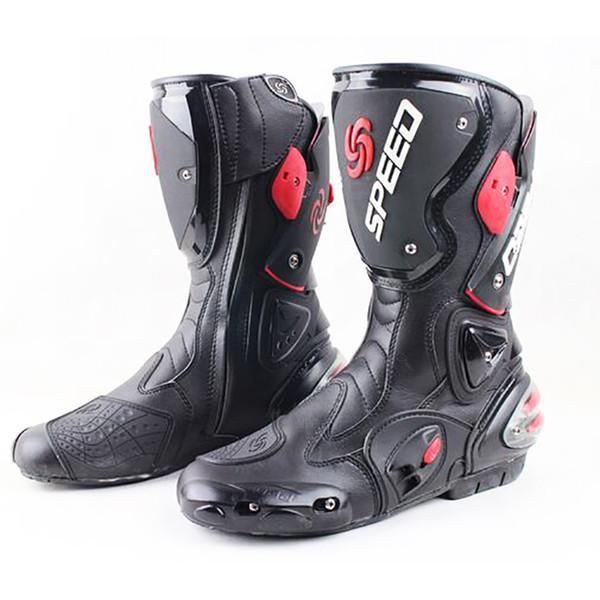 Stivali da moto da uomo speed 4 stagioni Protezioni da moto scarpe da moto Stivali da motocross per stivali da motociclismo neri rossi bianchi