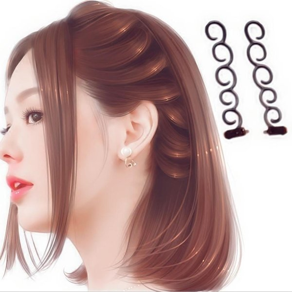NUEVO French Elegance Hair Braider Flower Magic Hair Clip Stylist Queue Twist Plait DIY Hairstyle Random Colors G0313