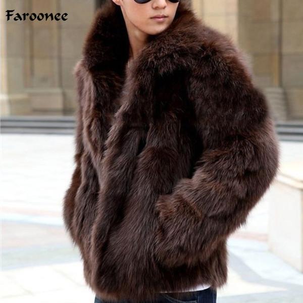 Manteau en fausse fourrure pour hommes Faroonee hiver épaissir chaud manteau fausse fourrure manteau manteau Slim Fashion Casual Jacket grande taille Y1880
