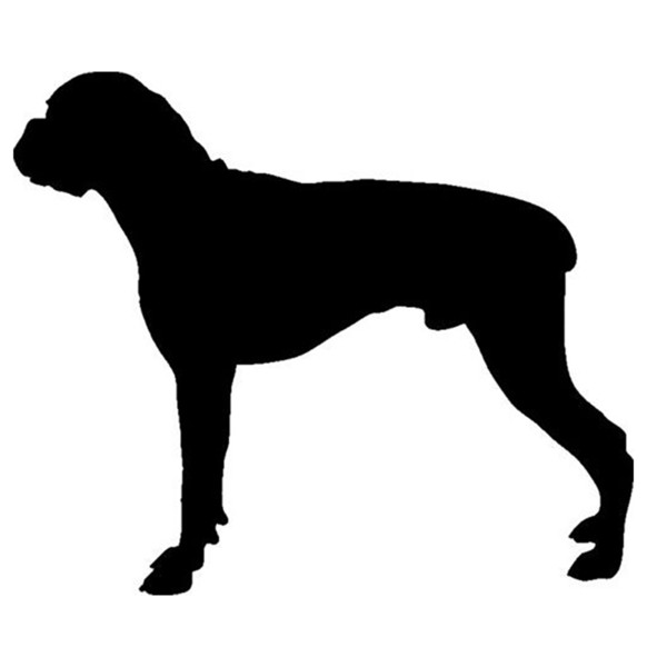 14*11.8CM Boxer Dog Animals Silhouette Car Decal Sticker Cute And Interesting Fashion Sticker Decals