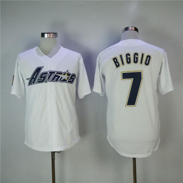 Customized Männer Houston 1983 Craig Biggio Astros Stickerei-Baseball-Jersey kostenlose Lieferung