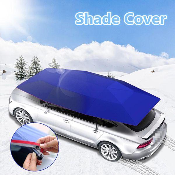 Araba Şemsiye Güneş Gölge Kapak Açık Araba Araç Çadır Oxford Bez Polyester 400x210 cm Mavi / Gümüş Braketi Olmadan Kapakları