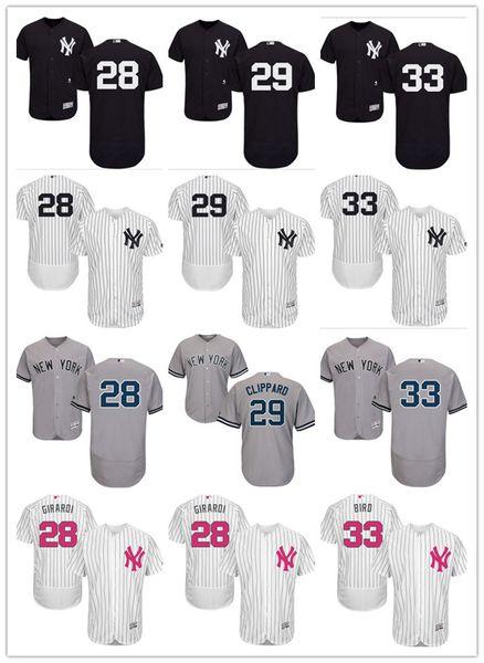 new product 83939 d3d68 2019 Custom NY New York Men'S Women Youth Majestic Yankees Jersey #28 Joe  Girardi 29 Todd Frazier 33 Greg Bird Black White Baseball Jerseys From ...