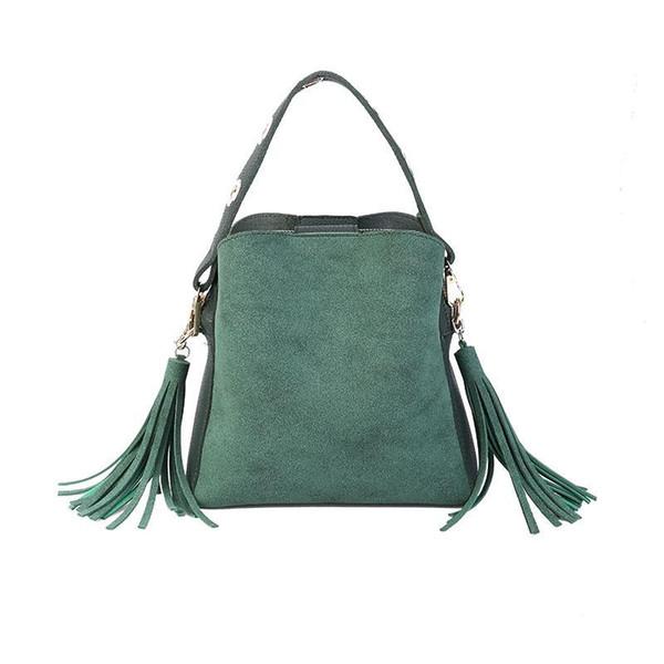 2019 Newest Design Tassel Shoulder Bags Handbags Women Scrub Daily Bag for Girls Schoolbag Female Crossbody Bags New Bucket Sac