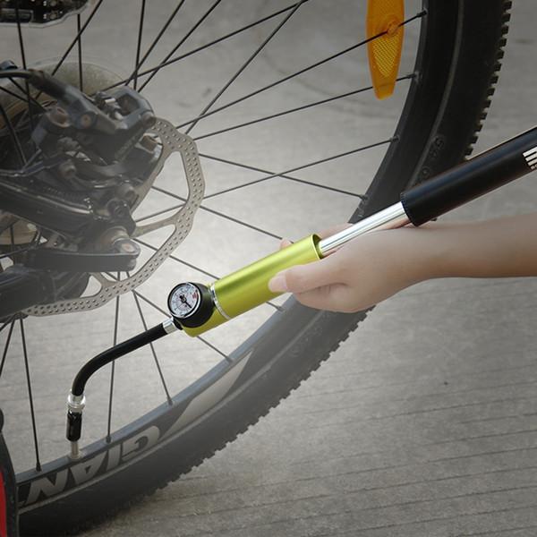 Portable Mountain Bike Pump Bicycle Schrader Presta Inflatable Mini pump Apply Basketball Football High Pressure Pump #292908